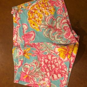 Lilly Pulitzer pineapple print Adie shorts
